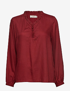 Gigi Shirt - MERLOT RED