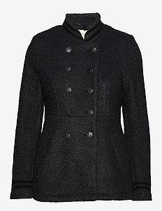 Annabell short Coat - wool jackets - black melange