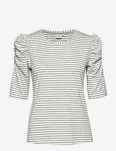 Lila Tshirt - LIGHT GREY MELANGE