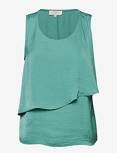 Carlie Top - BOTTLE GREEN