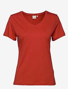 Naia T-shirt BCI - AURORA RED