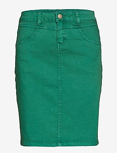 Amalie skirt - knee lgd. - BOTTLE GREEN
