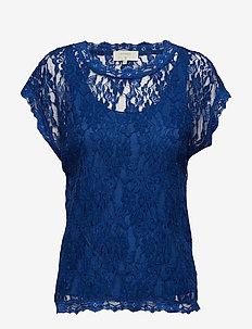 Vivi Lace Blouse - LIMOGES BLUE