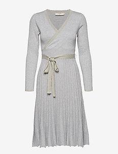 Clary Knit Dress - LIGHT GREY MELANGE