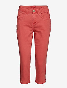 Vita Capri Twill Jeans - Regular Fi - CRANBERRY