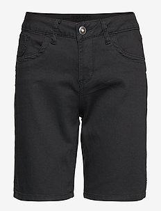 Vita Capri Twill Short - Regular Fi - PITCH BLACK
