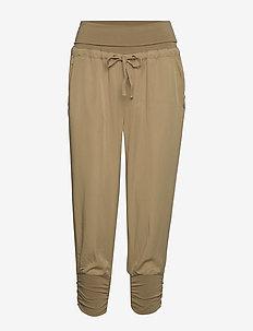 Line Pants - casual housut - dark sand