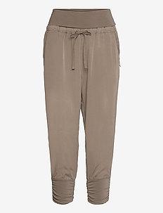 Line Pants - spodnie na co dzień - timber wolf