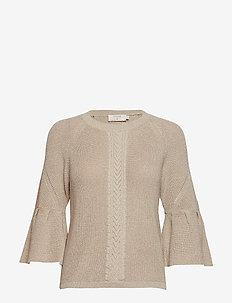 Felice Knit pullover - tröjor - warm sand