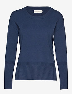 Amandine knit Pullover - DARK DENIM