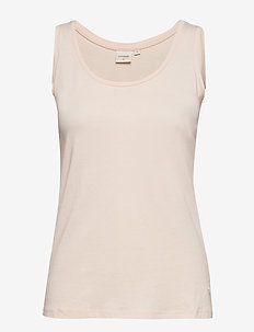 Naia o-neck tank top - sunshine rose