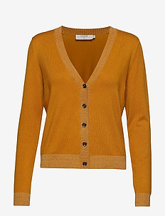 Simona Knit Cardigan - YELLOW GOLD