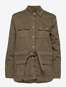 Cami Jog denim jacket - khaki