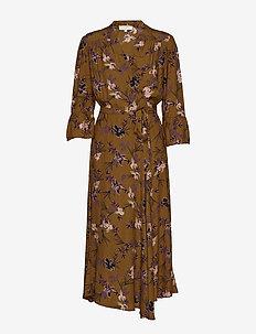 Vivian Wrap Dress - BRONZED