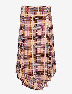 Checka Skirt - DACHSHUND BROWN
