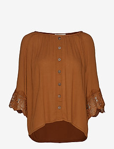Bea button blouse - BRONZED
