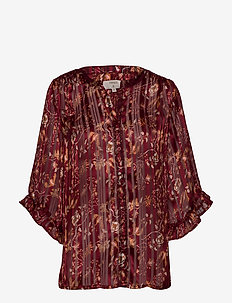 Nila Shirt - MERLOT RED