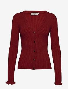 Helena Cardigan - kardigany - merlot red