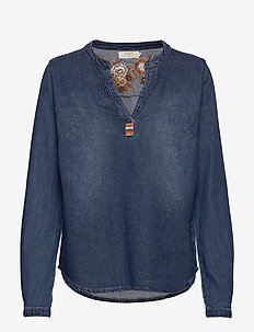 Emilie denim Blouse - BLUE MEDIUM DENIM