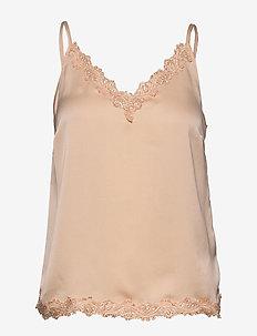 Elena Top - blouses zonder mouwen - desert