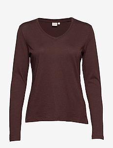 Naia long sleeve T-shirt - CHICORY COFFEE