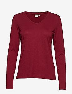 Naia long sleeve T-shirt - MERLOT RED