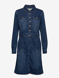 Spica Denim Dress - DENIM MELANGE