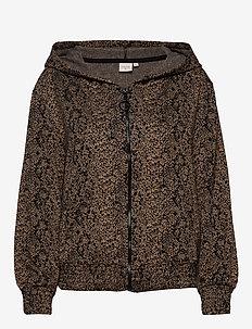 Maida Track Cardigan - bluzy z kapturem - brown sugar