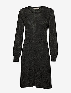 AurélielCR Knit Dress - stickade klänningar - pitch black
