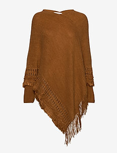 Cimone Knit Poncho - ponchos & capes - bronzed