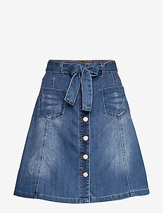 AlmaCR Denim Skirt - RICH BLUE DENIM