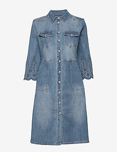 RositaCR Denim Dress - LIGHT BLUE DENIM