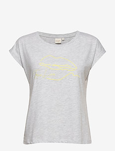 VeligaCR T-shirt - LIGHT GREY MELANGE