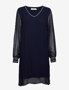 ClodieCR Dress - ROYAL NAVY BLUE