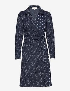 SuedaCR Wrap Dress - ROYAL NAVY BLUE
