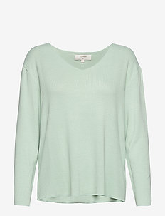JonnaCR V-neck - soft green solid