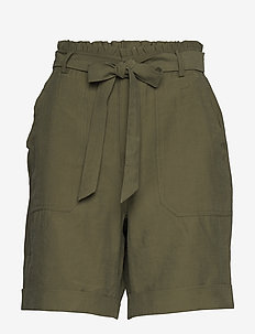 GunnaCR Shorts - paper bag shorts - burnt olive