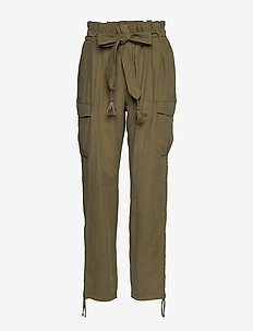 GunnaCR Pants - pantalons casual - burnt olive