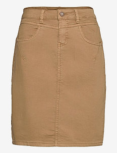 AmalieCR Skirt - jeansowe spódnice - tannin