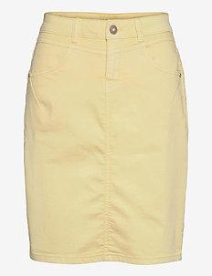 AmalieCR Skirt - jeansowe spódnice - yellow delight
