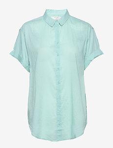 AmeliaCR Shirt - kortermede skjorter - aqua haze