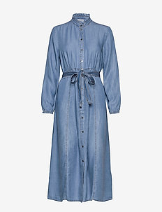 VincaCr dress - paitamekot - blue denim