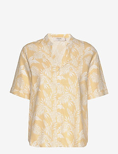 EstaCR Shirt - chemises à manches courtes - yellow leaf print