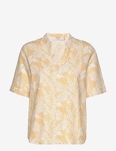 EstaCR Shirt - YELLOW LEAF PRINT