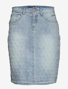 RobinaCR Denim Skirt - BLUE DENIM