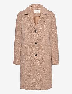 AmeliaCR Coat - wool coats - burro melange