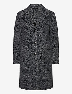 AmeliaCR Coat - wełniane płaszcze - pitch black