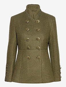 AnnabellCR Short Coat - wool jackets - kalamata