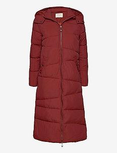 GaiagroCR Long Jacket - dynefrakke - fired brick