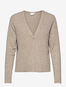 EmmyCR Short Cardigan - swetry rozpinane - sandshell melange